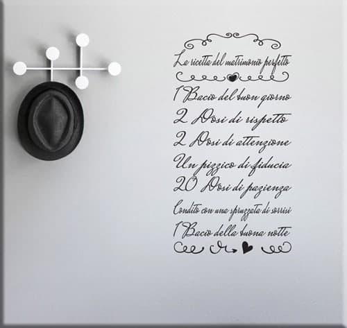 adesivi murali ricetta matrimonio perfetto