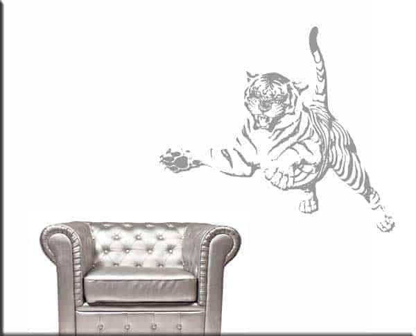 adesivi murali tiger tigre arredo