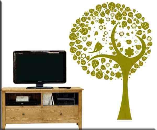 adesivo da parete albero stilizzato