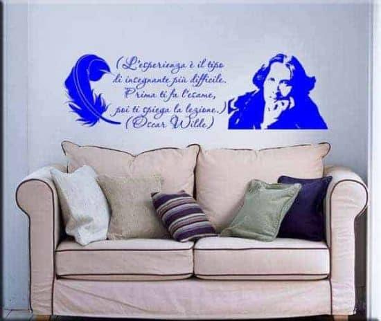 adesivo da parete citazione Oscar Wilde