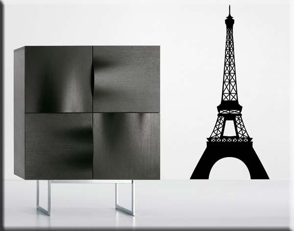 Adesivi Murali Torre Eiffel.Adesivo Da Parete Torre Eiffel