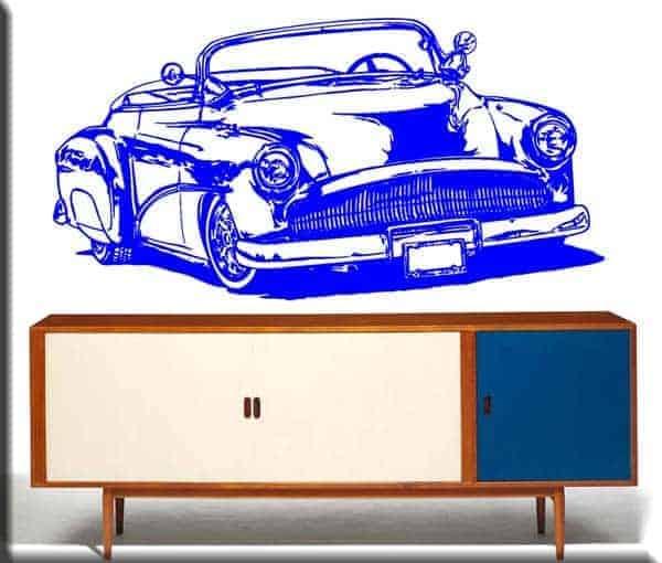 adesivo murale auto d'epoca