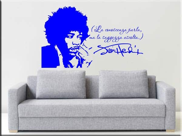 adesivo murale frase Jimi Hendrix