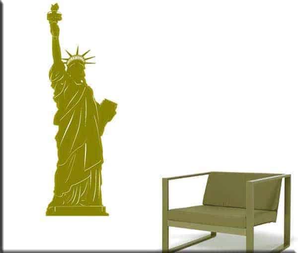 adesivo murale statua libertà