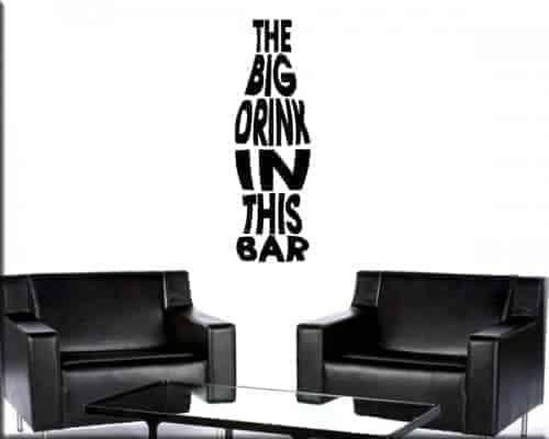 decorazione adesiva murale drink bar