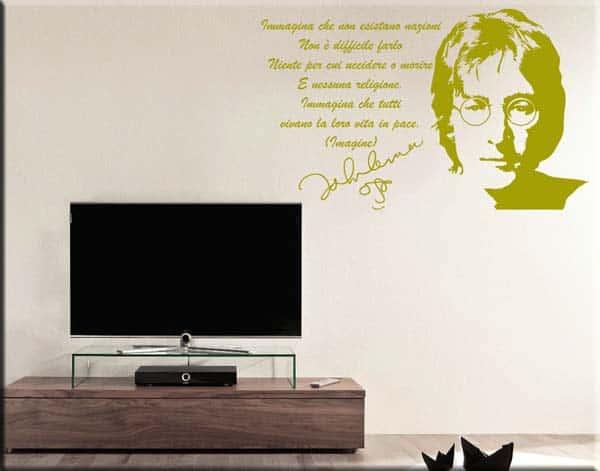 decorazione adesiva da muro frase John Lennon