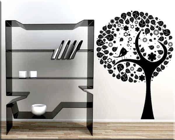 decorazione adesiva murale albero stilizzato