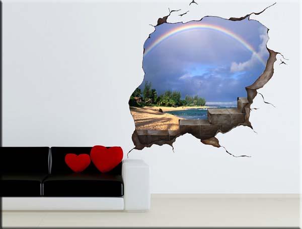 decorazione adesiva murale buco muro