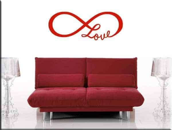 decorazione adesiva murale love infinito