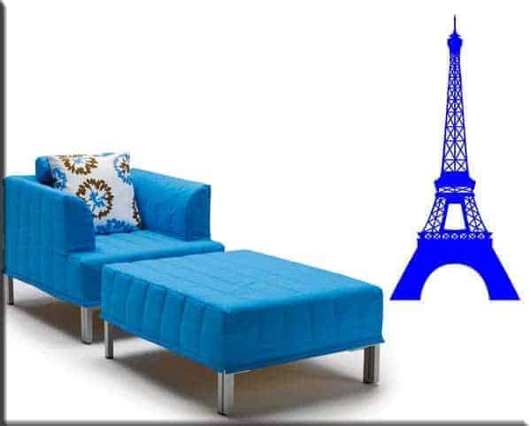 decorazione adesiva murale torre Eiffel