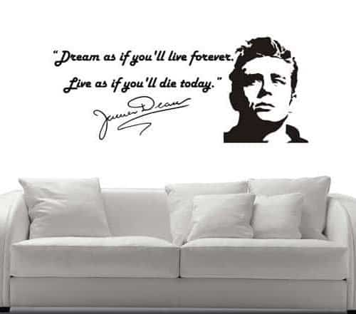 decorazione murale frase James Dean