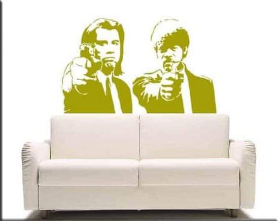 decorazioni adesive da muro Pulp Fiction
