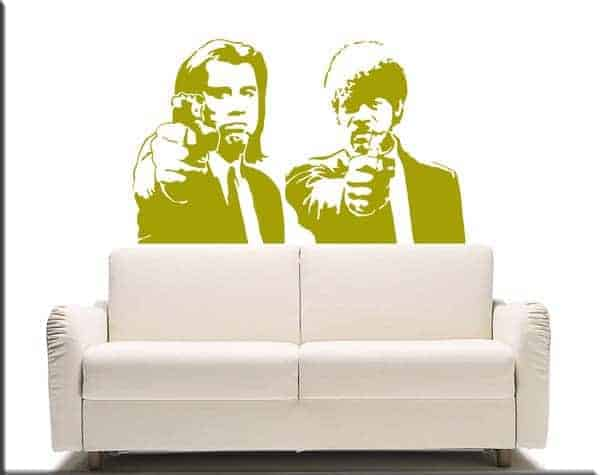 decorazioni adesive da muro Pulp Fiction