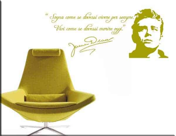 decorazioni adesive murali frase James Dean