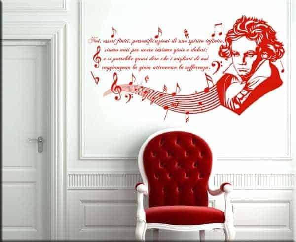 decorazioni adesive murali frasi Beethoven