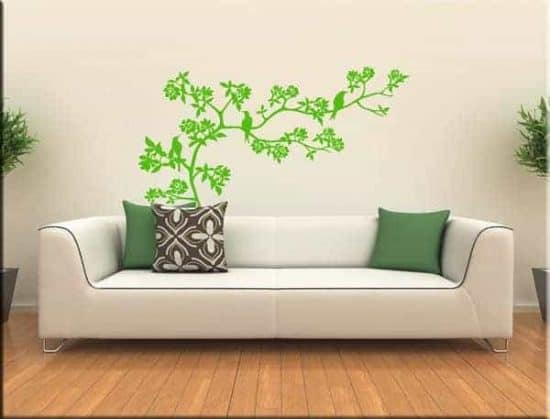 decorazioni murali ramo fiori albero