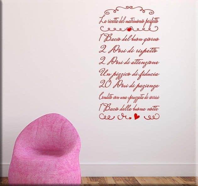 decorazioni murali ricetta del matrimonio perfetto