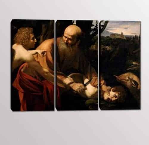 quadri moderni sacrificio Isacco Caravaggio