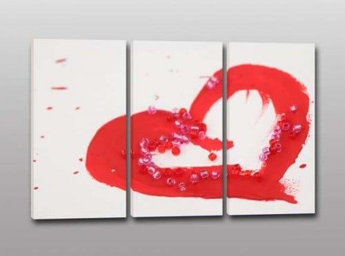 quadri moderni stampa cuore rosso