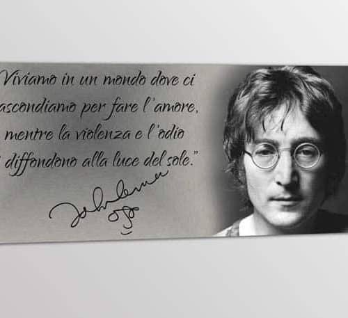 quadro moderno frase John Lennon