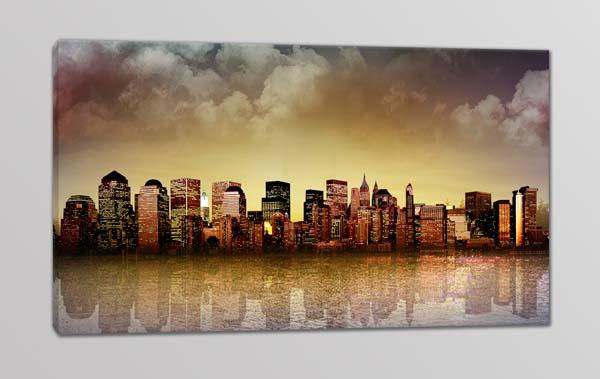 quadro moderno panorama città