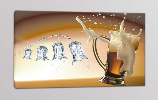 quadro moderno stampa birra bar