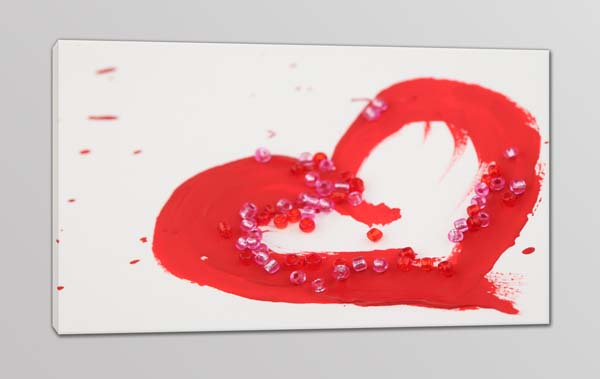 quadro moderno stampa tela cuore rosso