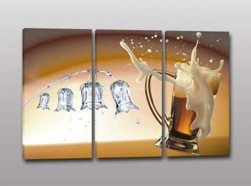 tris quadri moderni birra bar