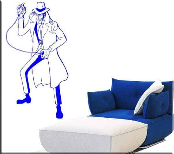 wall sticker Zenigata Lupin