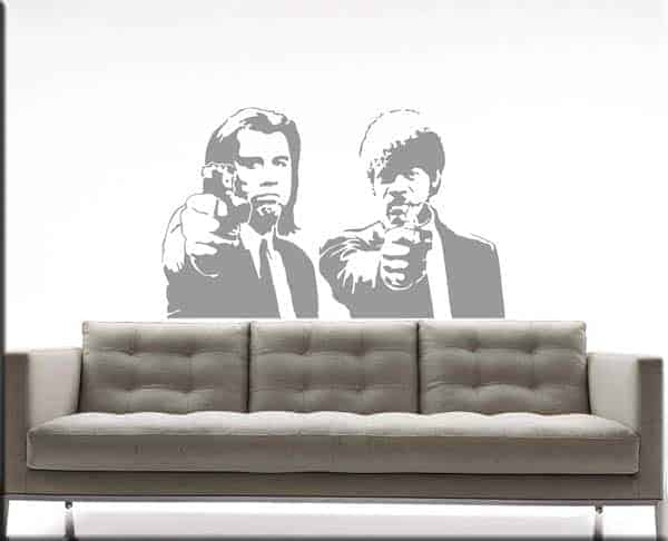 wall stickers Pulp Fiction cinema