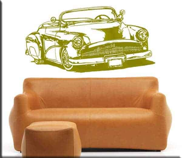 wall stickers auto d'epoca car