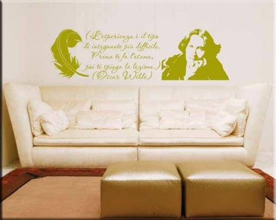 wall stickers citazione Oscar Wilde