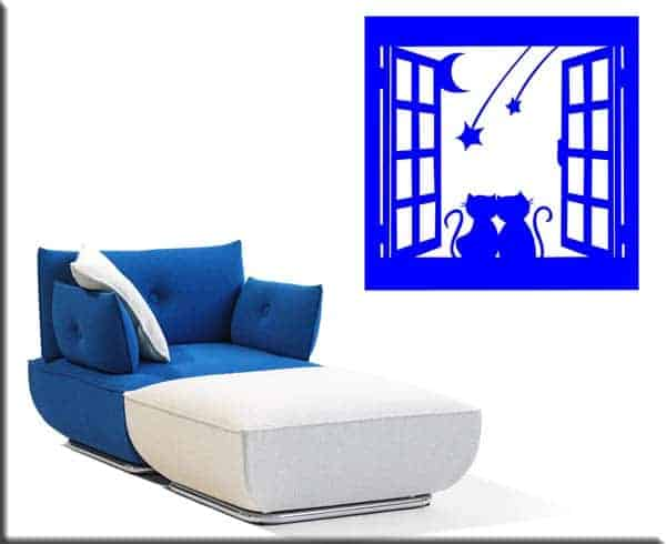 wall stickers finestra gatti