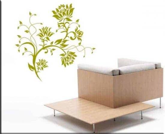 wall stickers fiori stilizzati