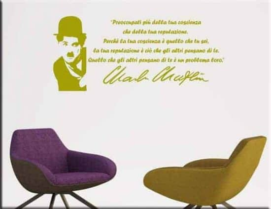 wall stickers frase Charlie Chaplin