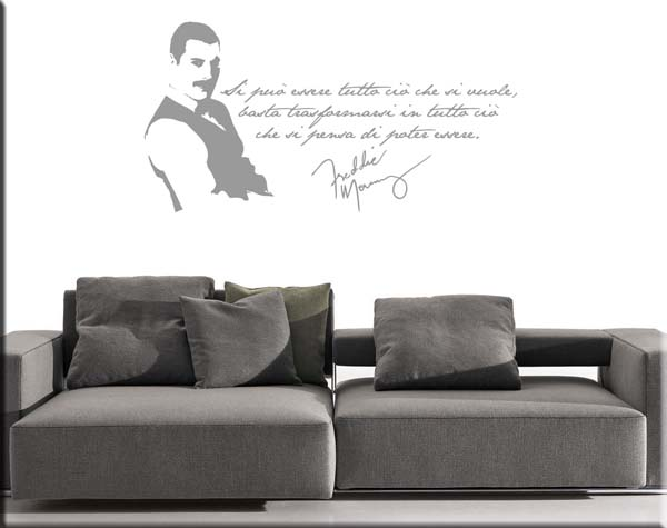 wall stickers frase Freddie Mercury