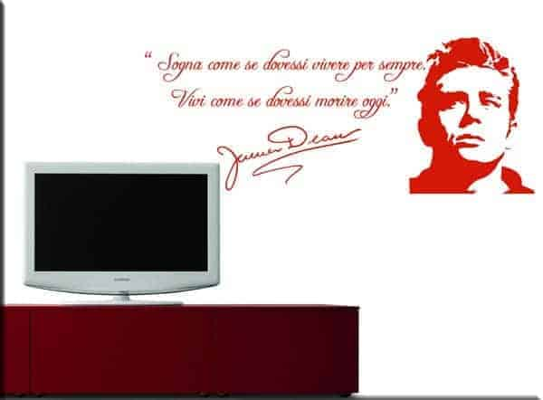 wall stickers frase James Dean