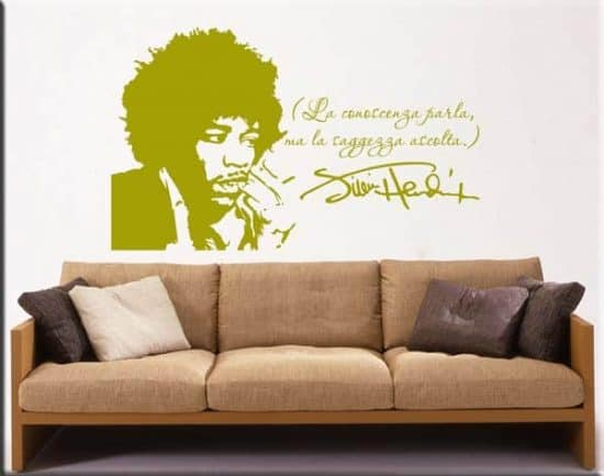 wall stickers frase Jimi Hendrix