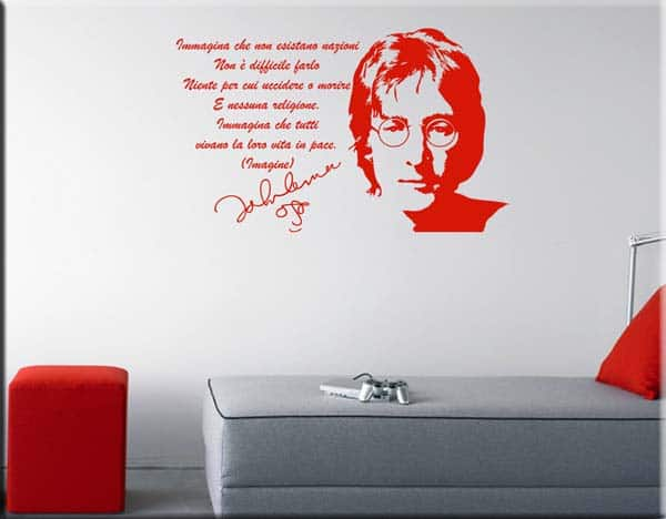 wall stickers frase John Lennon