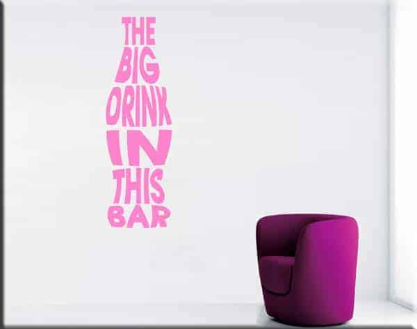 wall stickers frase drink bar