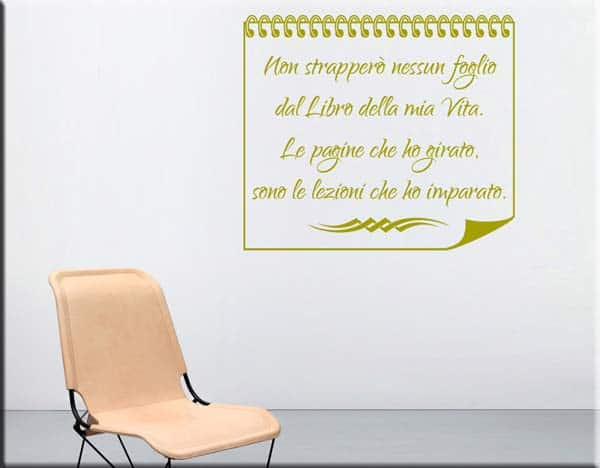 wall stickers frase libro