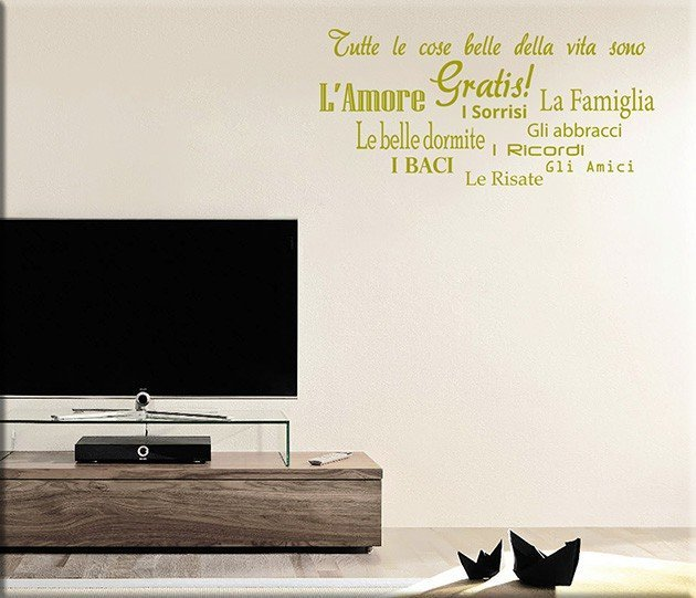 wall stickers frasi cose gratis