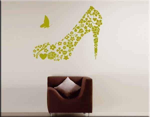 wall stickers scarpa donna vintage