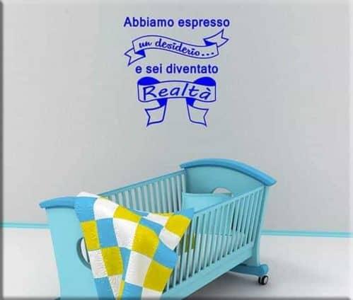 Adesivi da parete frase bebè bambino