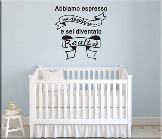 Adesivi murali frase bebè bambino