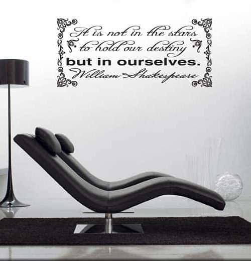 Decorazione adesiva citazione William Shakespeare