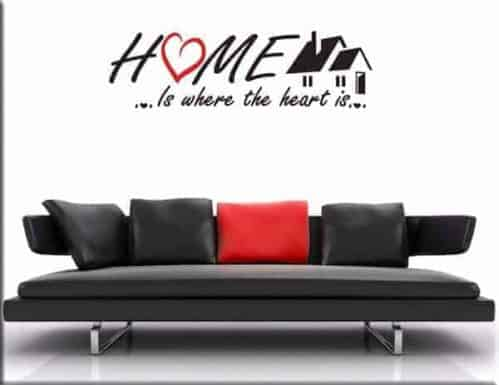 Wall stickers frase home casa