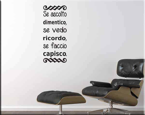 Wall stickers frase proverbio cinese