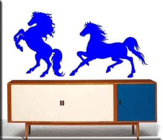 adesivi da parete cavalli