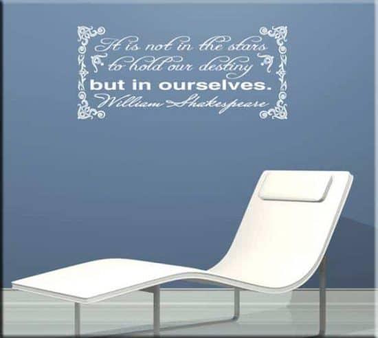 adesivi da parete citazione William Shakespeare